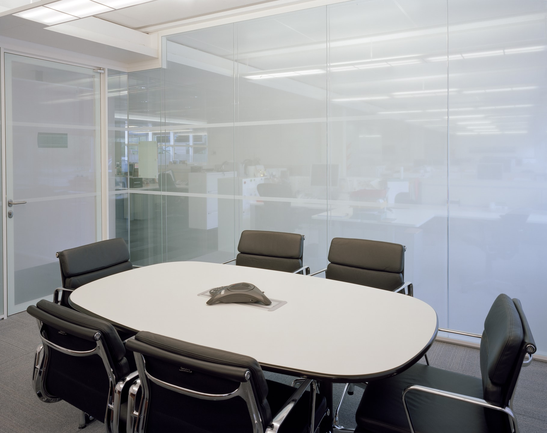 Office conference room window graphics white film