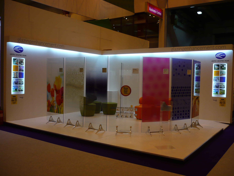 decorative window film on display in showroom