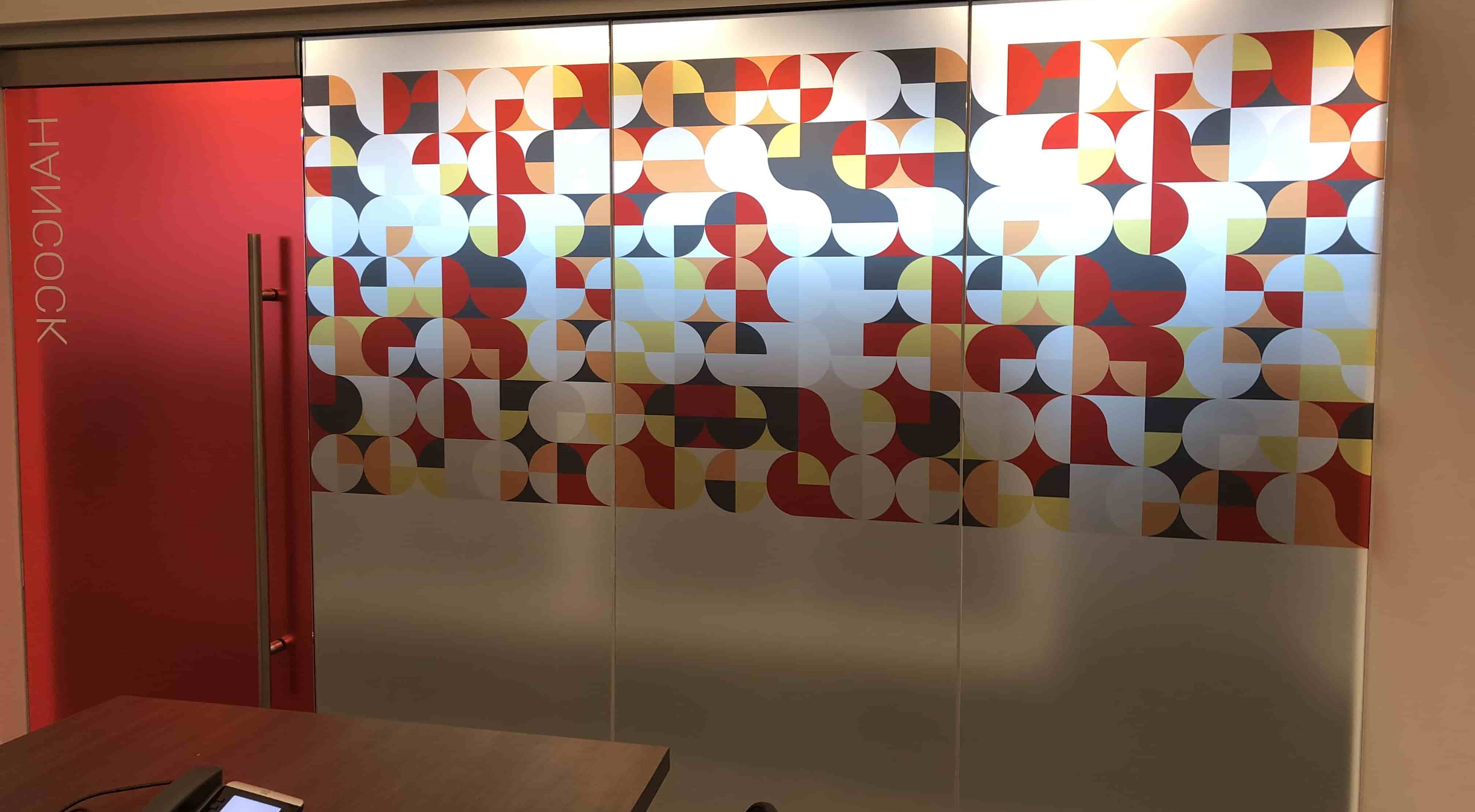 red window graphics in office-min